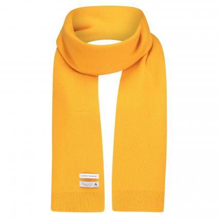 Schal aus Merinowolle gelb (burned yellow)   0