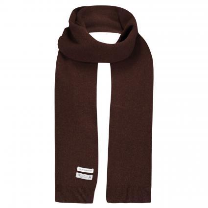 Schal aus Merinowolle braun (coffee brown) | 0