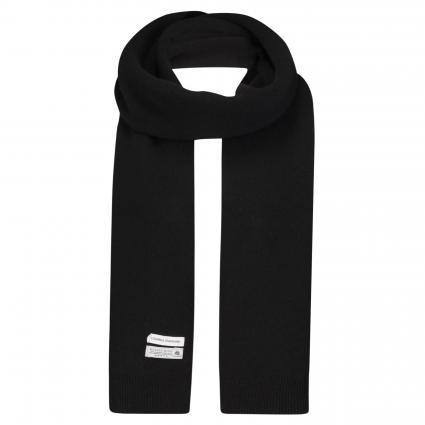 Schal aus Merinowolle schwarz (deep black) | 0