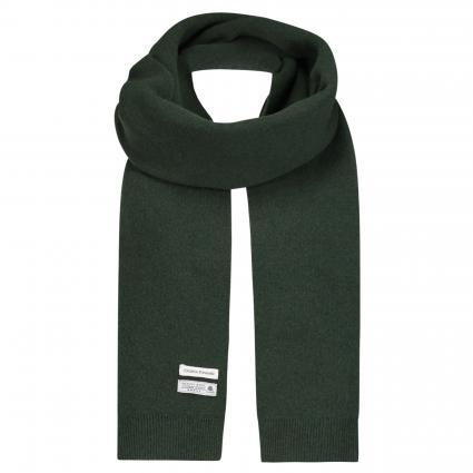 Schal aus Merinowolle grün (hunter green)   0