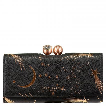 Portemonnaie 'Palama' mit Print schwarz (BLACK)   0