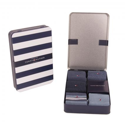 Geschenke Box mit Socken blau (001322 dark navy)   39/42