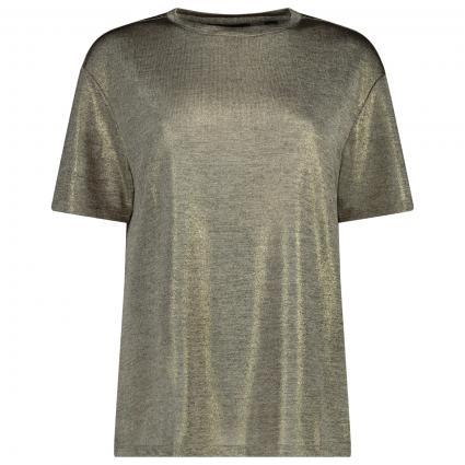 T-Shirt 'Rubiy' mit Glitzer-Details  gold (GOLD-COL) | 38
