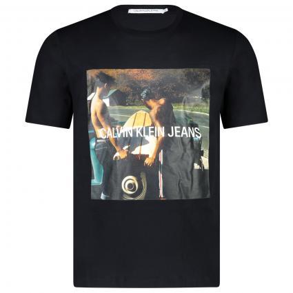 T-Shirt mit Print  schwarz (099 ck black) | M
