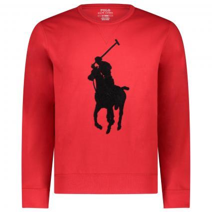 Sweatshirt mit großem gestricktem Logo rot (006 rl 2000 red) | XL