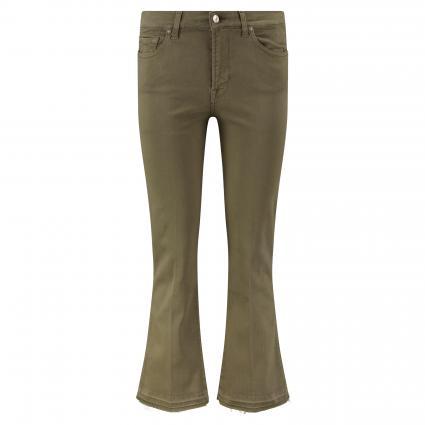 Verkürzte Flared-Leg Jeans oliv (green) | 28