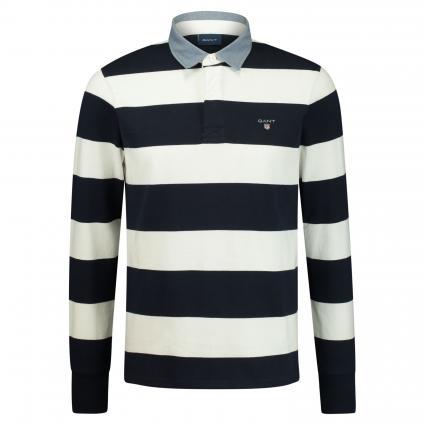 Poloshirt mit Streifenmuster ecru (113 Eggshell ) | XL