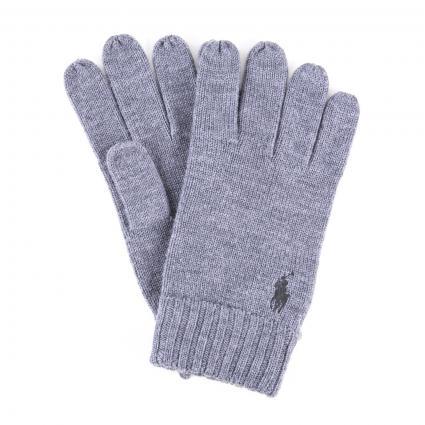 Handschuhe aus reiner Wolle  grau (001 FAWN GREY) | 0