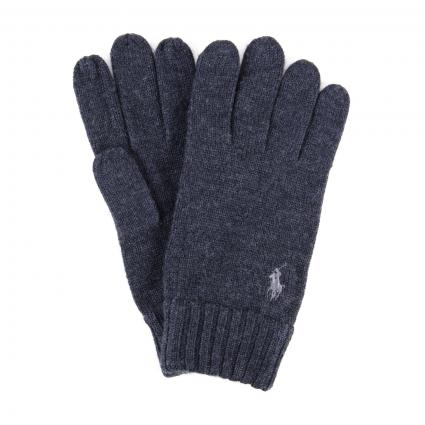 Handschuhe aus reiner Wolle  anthrazit (004 dark granite he) | 0