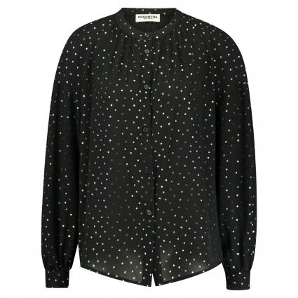 Bluse mit Punkte-Muster schwarz (BLACK BL11) | 36