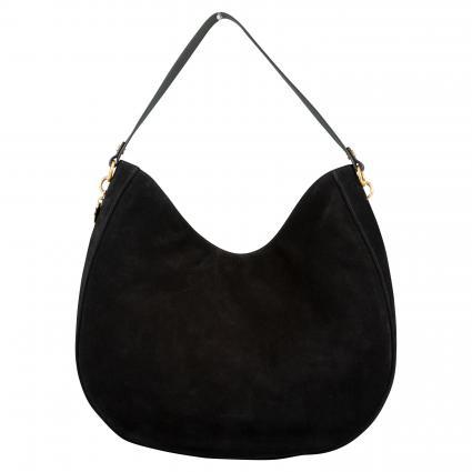 Handtasche 'Alpha Suede' aus Veloursleder schwarz (001 NOIR) | 0