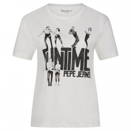 T-Shirt 'Cinamon' mit Print ecru (808MOUSSE) | S