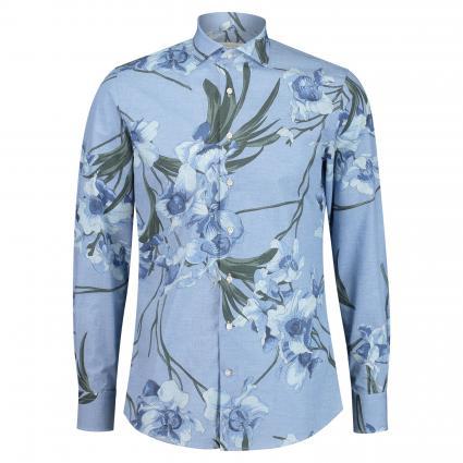 Slim-Fit Hemd mit floraler Musterung blau (blau) | 38