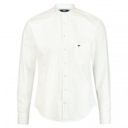 Hemd mit schmalem Stehkragen weiss (5001 White) | M