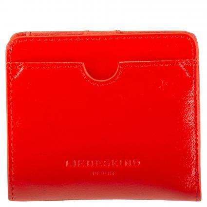 Portemonnaie aus Leder rot (POPPY RED) | 0