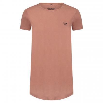 T-Shirt mit Rundhalsausschnitt rot (washed terracotta) | L