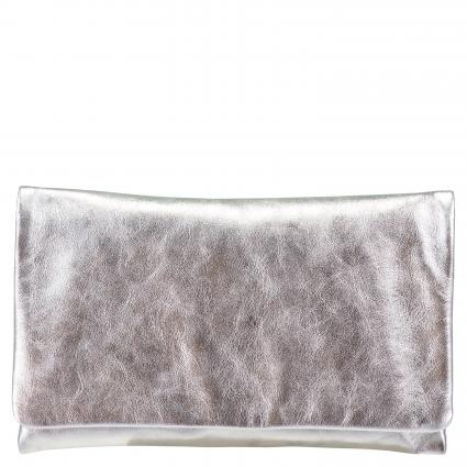 Clutch 'Mimosa' aus Leder  silber (91 SILVER)   0