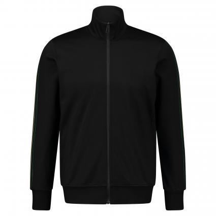 Sweatjacke mit Galonstreifen schwarz (79 black) | S