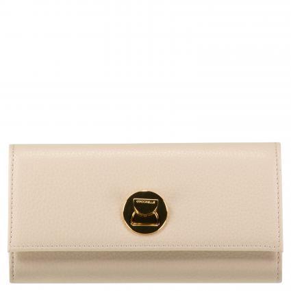 Portemonnaie 'Liya' aus Leder beige (N43 SEASHELL) | 0