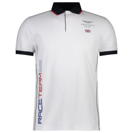 Poloshirt mit Colour-Blocking weiss (802 OPTIC WHITE) | S