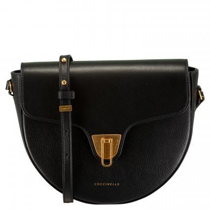 Sattle-Bag aus Leder schwarz (001 NOIR) | 0