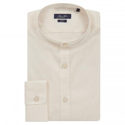 Slim-Fit Hemd mit Stehkragen weiss (00 white) | L