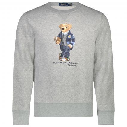 Sweatshirt mit Label-Print  divers (003 ANDOVER HEATHER) | XXL