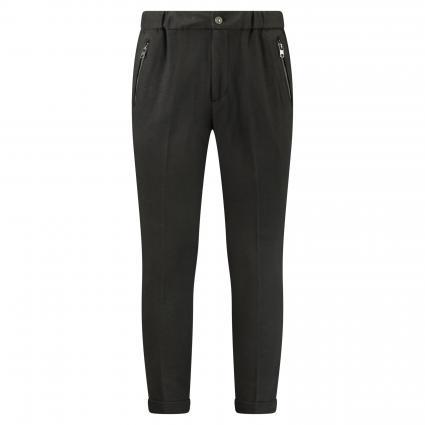 Schmale Hose 'Aleko' mit elastischem Taillenbund schwarz (900 black) | M