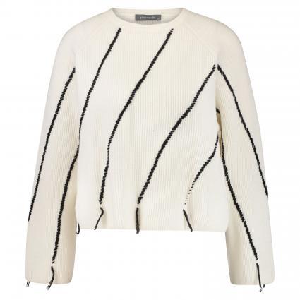 Pullover mit Musterung ecru (081/0005 cream black) | 40