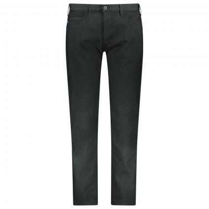 Regular-Fit Jeans mit Struckturmuster  schwarz (999 SCHWARZ) | 33 | 32