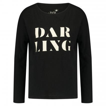 Langarmshirt mit Print  schwarz (110 schwarz/weiß)   XXL