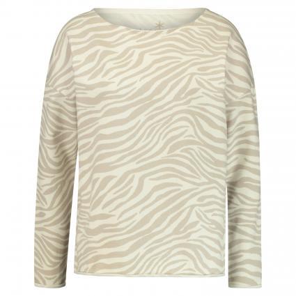 Sweatshirt mit All-Over Muster ecru (120 ecru/beige) | XL