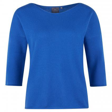 Cashmerepullover mit 3/4 Ärmel blau (royal) | XL