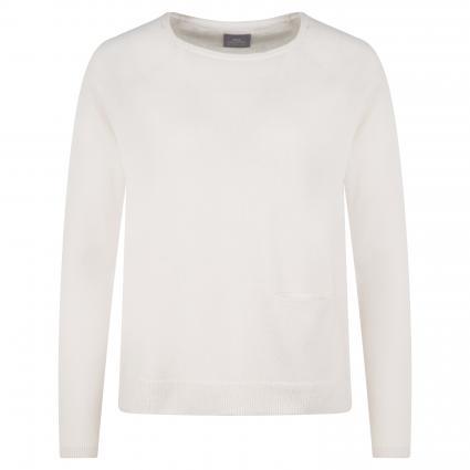 Pullover aus Cashmere ecru (tofu) | L