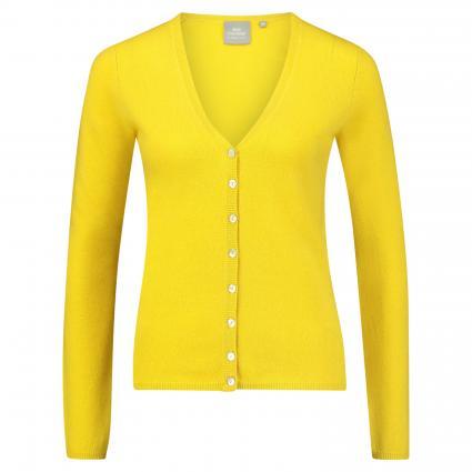 Strickjacke aus Cashmere gelb (mustard) | 42