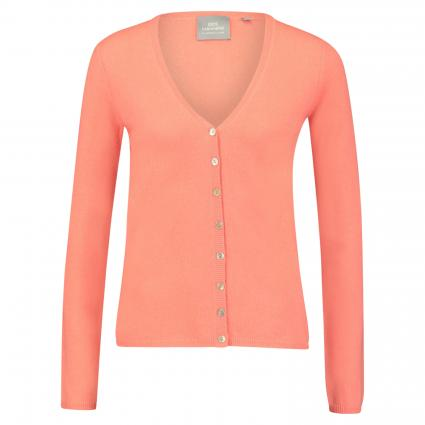 Strickjacke aus Cashmere pink (apricot) | 42