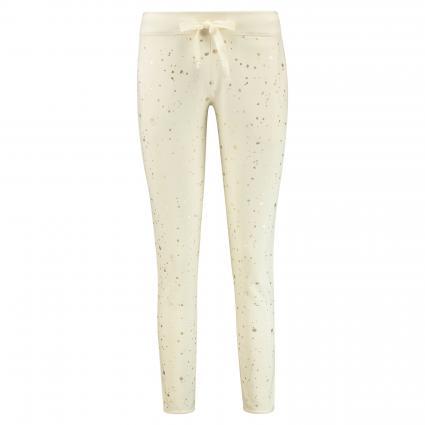 Sweatpants mit Schimmer-Details ecru (120 ecru/gold) | XL