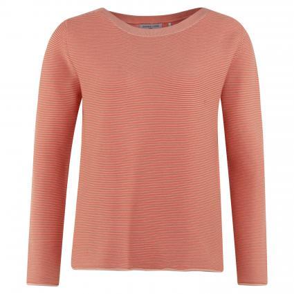 Pullover mit Rollsaum orange (apricot/orange) | XL