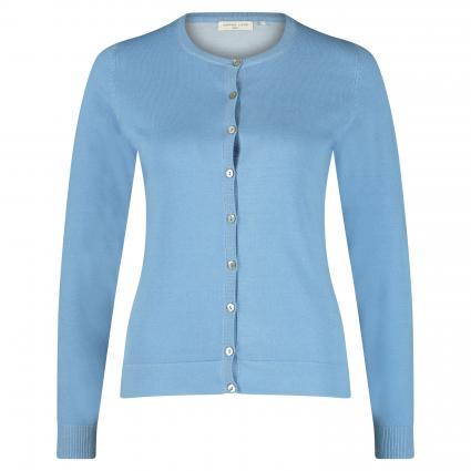 Strickjacke aus Baumwolle blau (himmelblau/bleu) | L
