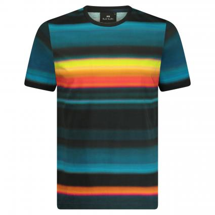 T-Shirt mit Rundhalsausschnitt schwarz (92 multi) | M