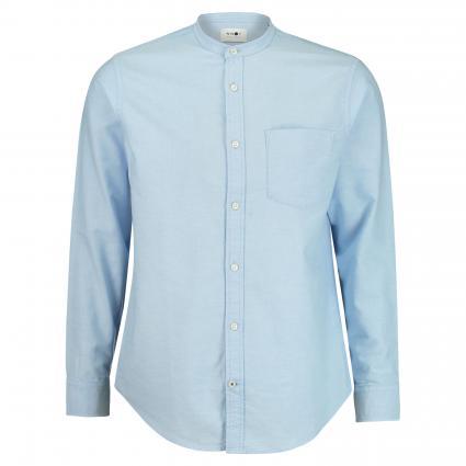 Slim-Fit Hemd 'Justin' mit Stehkragen blau (210) | XL