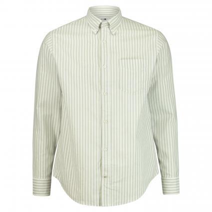 Hemd 'Levon' mit Button-Down Kragen grün (730) | L