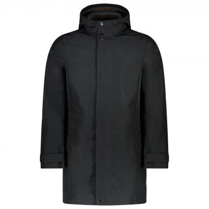 Mantel mit Kapuze  schwarz (BLACK) | L