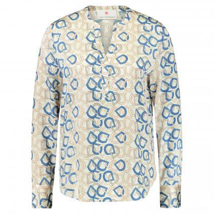Blusenshirt aus Seide  ecru (1019 offw./royal)   42