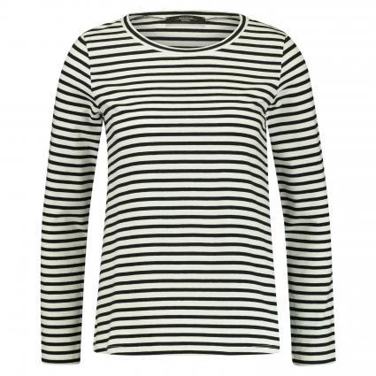 Langarmshirt 'Oria' mit Streifenmuster schwarz (006 schwarz weiß) | M
