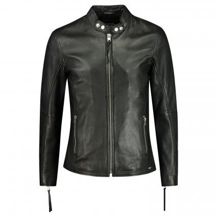 Lederjacke 'Arnulf' mit Reißverschluss  schwarz (900 black) | S