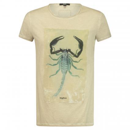 T-Shirt 'Toxic Scorpion' mit Print beige (104 vintage sand) | L