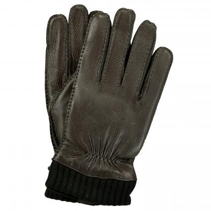 Handschuhe aus Leder schwarz (100 black) | 9