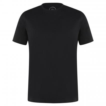 Basic Shirt mit Rundhalsausschnitt schwarz (Black) | XXL