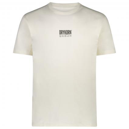 T-Shirt 'Samuel' mit Label-Print  ecru (1930) | M